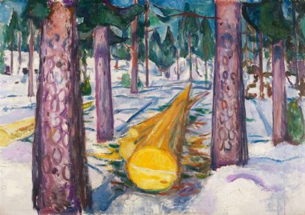 Munch, Edvard: The Yellow Log. Fine Art Print/Poster. Sizes: A4/A3/A2/A1 (0087)